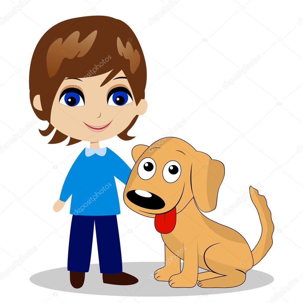 Хозяин с собакой картинки для детей