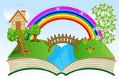 Otevřít knihu s letní krajina