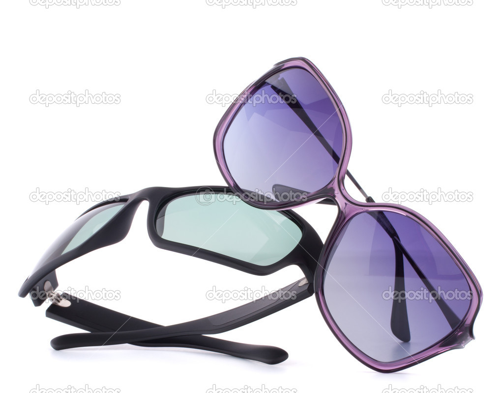 25d68f57a7a5 Stylish sunglasses pair isolated on white background cutout — Photo by  natika