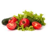 paradicsom, uborka, zöldség és saláta saláta
