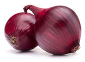 Photo red onion bulb