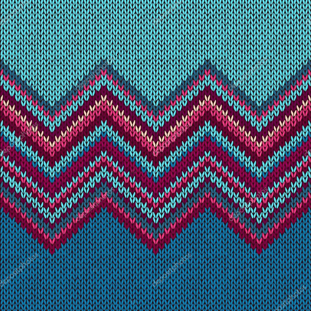 Knitted Seamless Fabric Pattern, Beautiful Red Pink Knit Textur