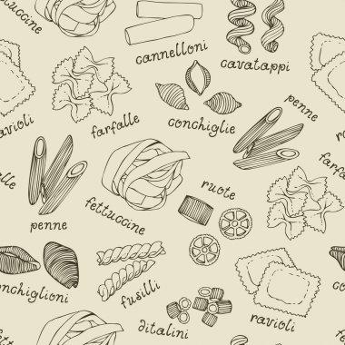 Italian pasta set pattern