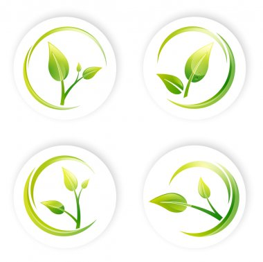 Green Sprout Leaf Design Set