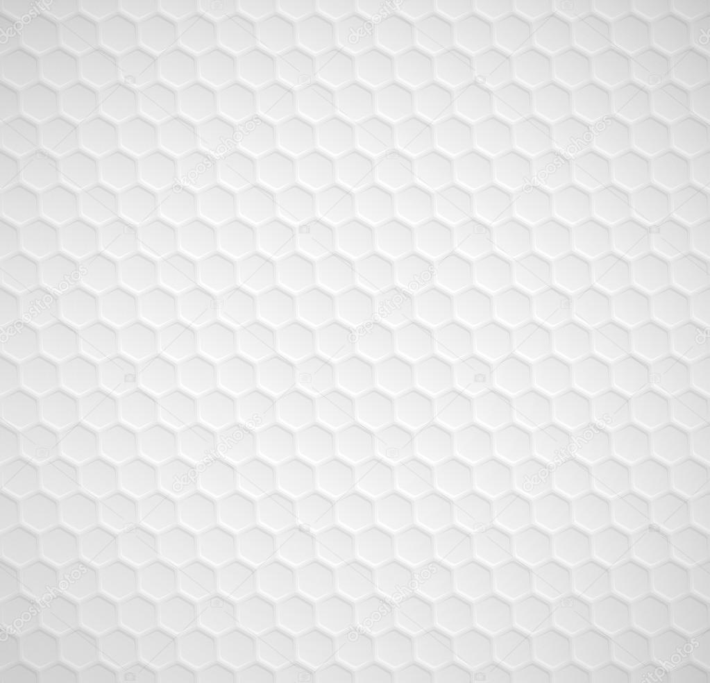 Vector hexagons seamless white background