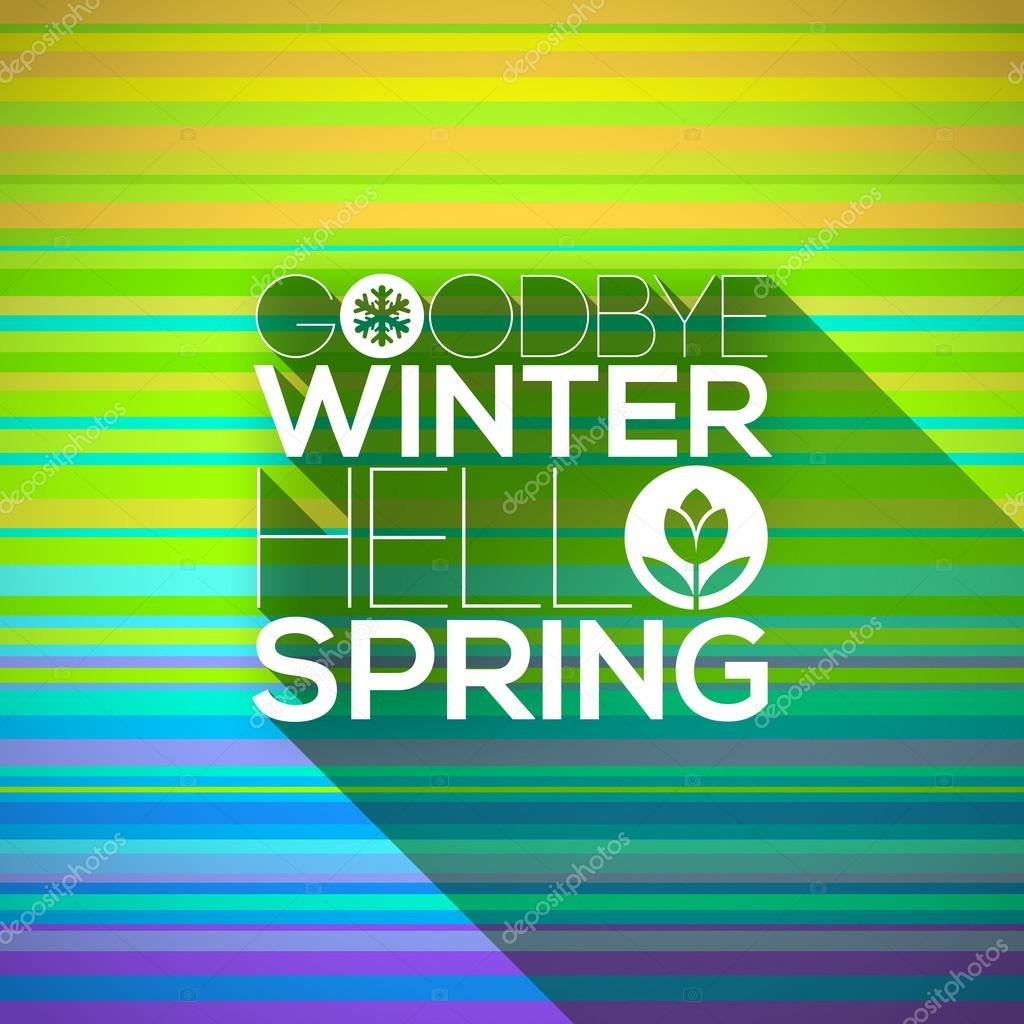 Spring greeting design - vector illustration