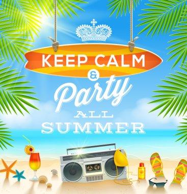 Summer holidays greeting design - vector illustration