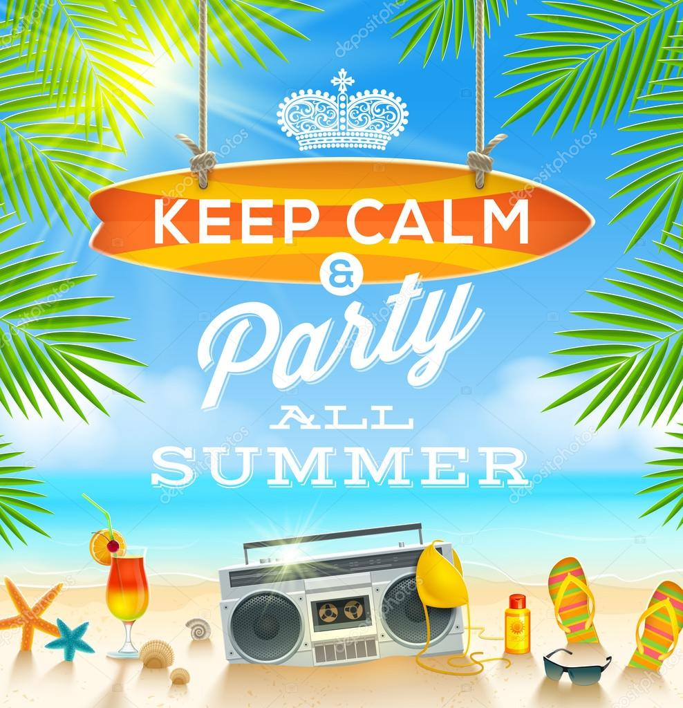 Summer holidays greeting design - vector illustration
