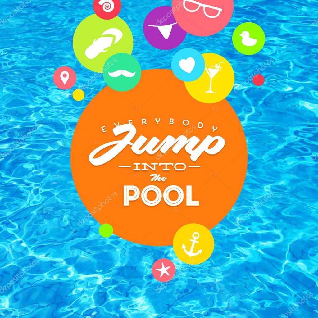 las vacaciones de verano coloridas vector ilustración con agua de