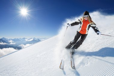 Girl - Woman - Female On the Ski