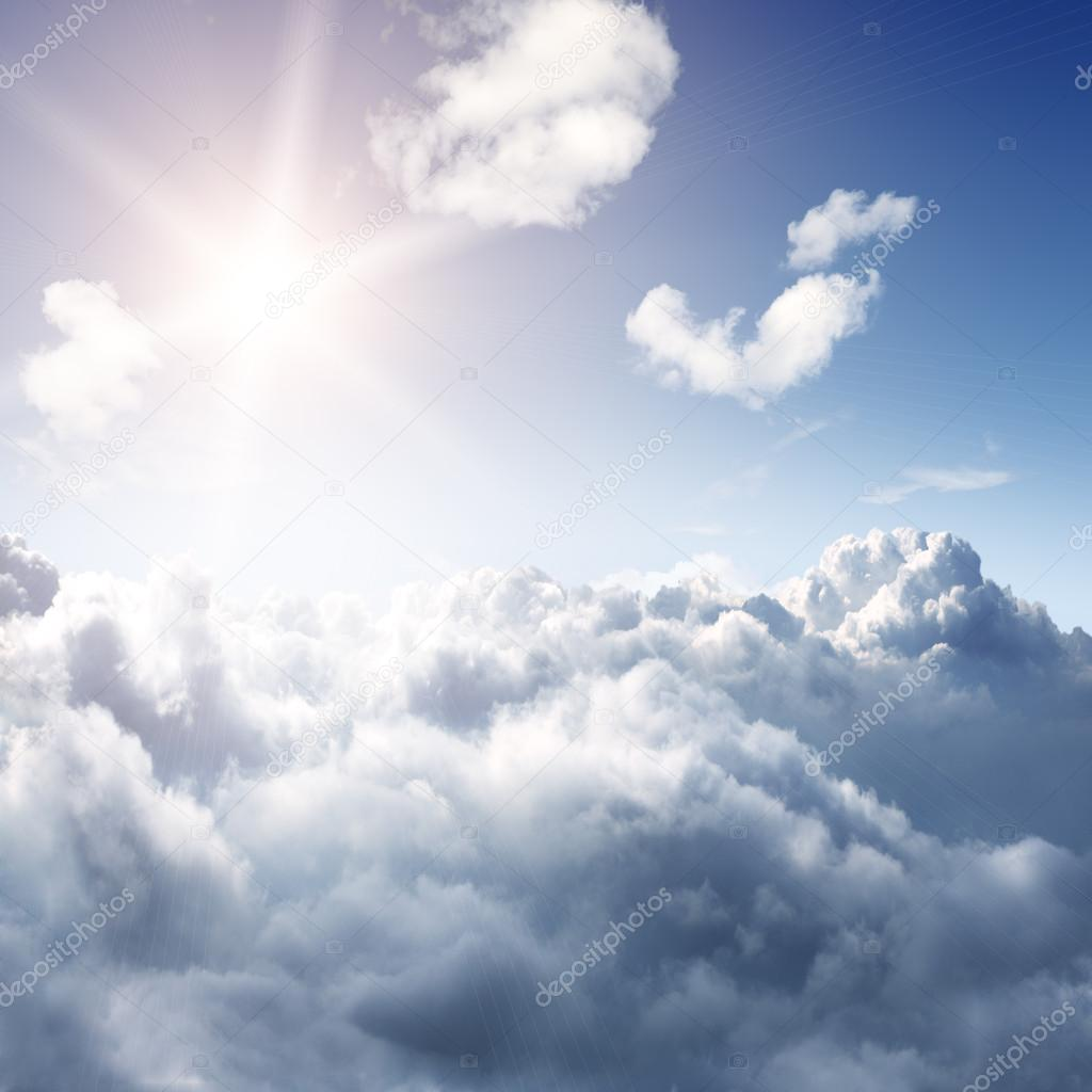 Amazing view to sky above clouds