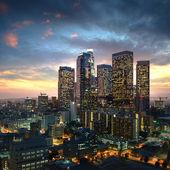 Los angeles města při západu slunce, Kalifornie