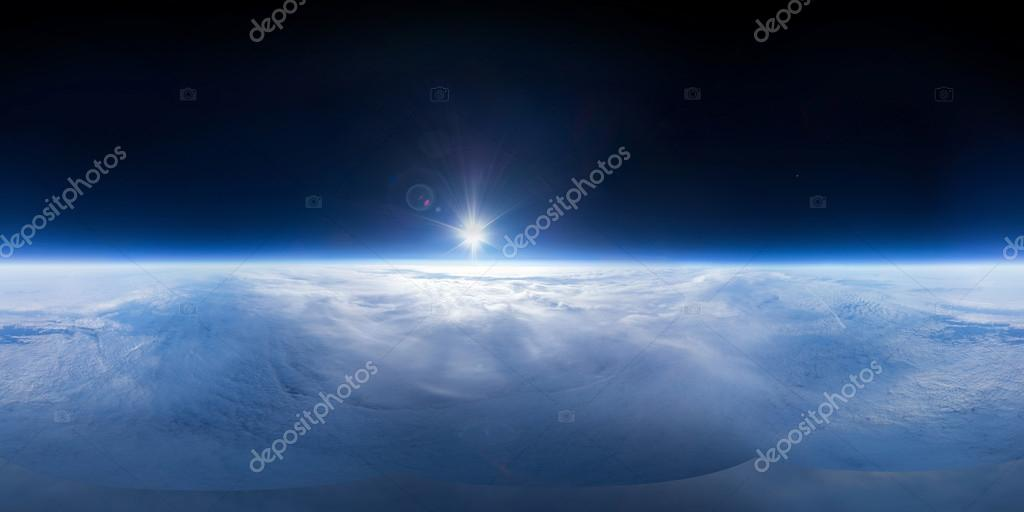 Near Space photography - 20km above ground - real panorama