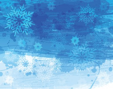 Blue christmas watercolor background stock vector