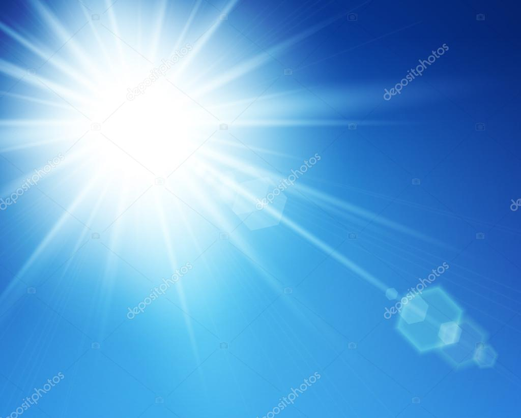 Realistic sun burst with flare