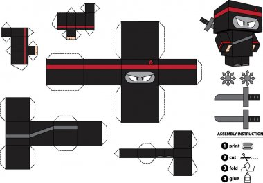 Customizable Ninja Paper Toy