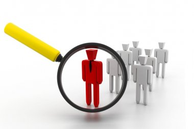 Search a group company or population of and find a leader