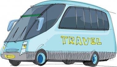 Tourist bus - cartoon
