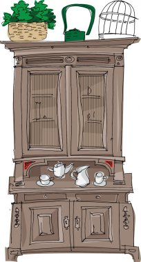 Vintage sideboard - cartoon