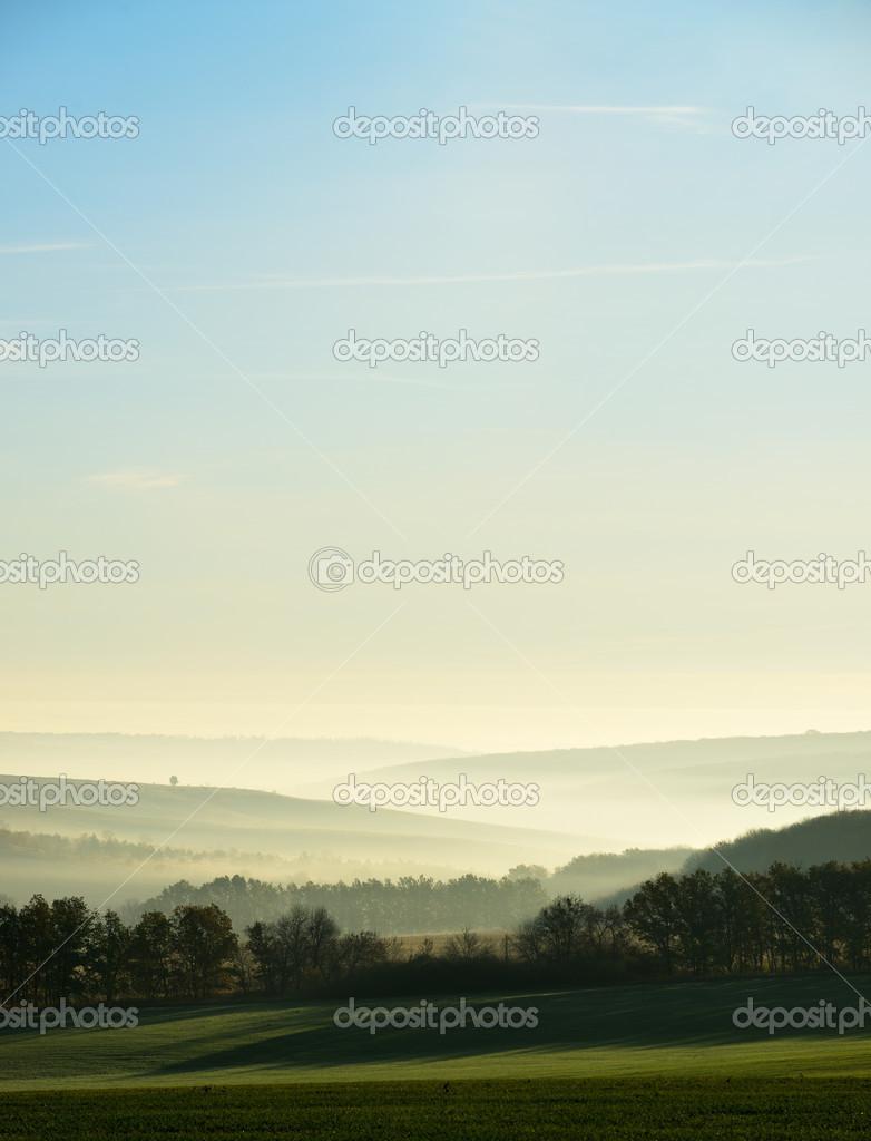 Фотообои The hills in the fog