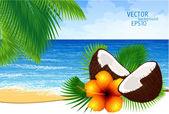 Vektorové pozadí paradise Island