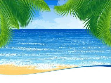 Paradise island ocean shore.