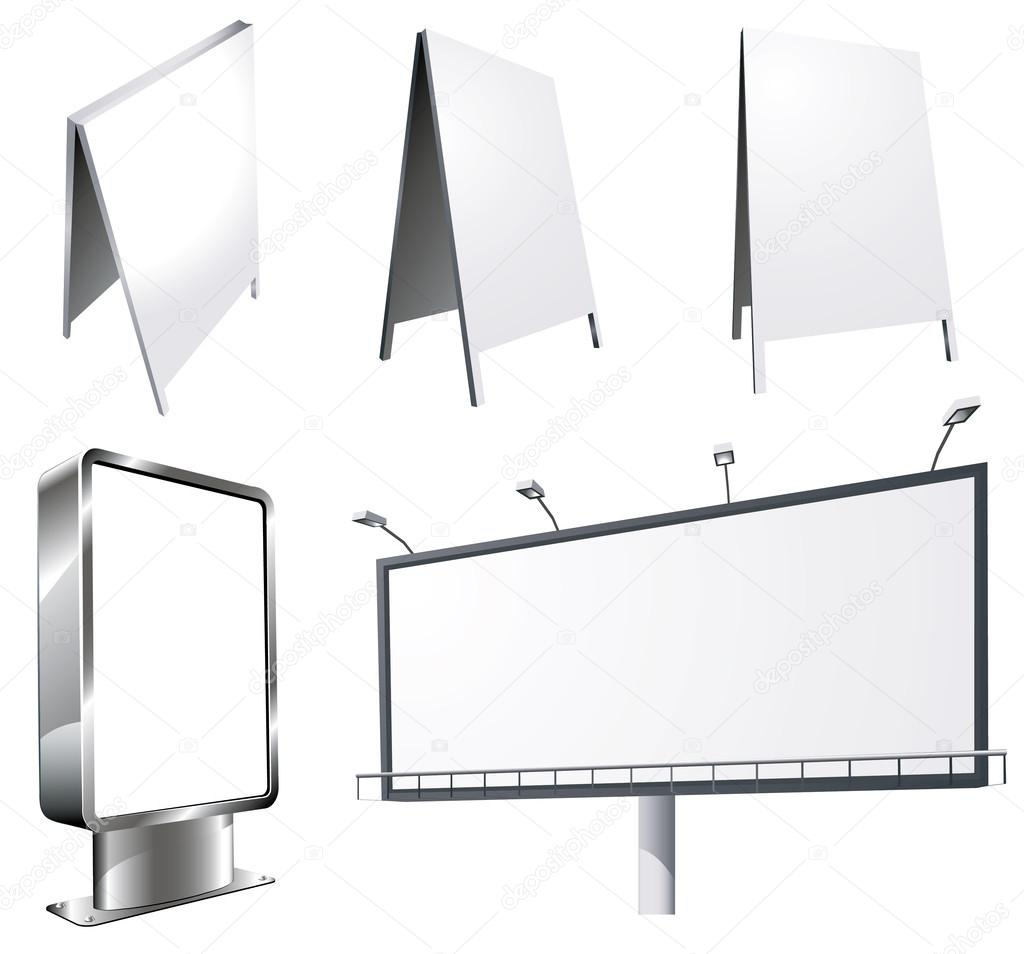 Outdoor advertising constructions