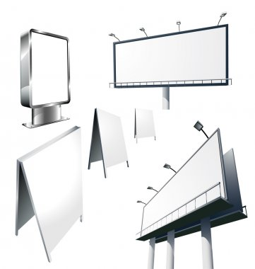 Outdoor advertising constructions.