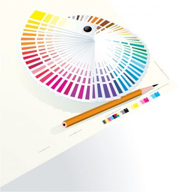 Color guide to match colors for print.