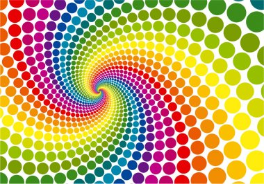 Rainbow swirl vector background.