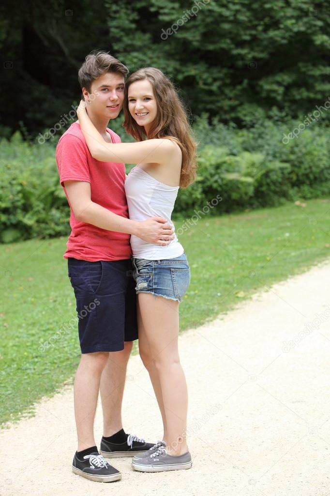 Young teen couple fooling sexualy — 2
