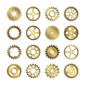 Fotografie Set of gear wheels vector