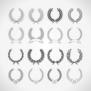 set of laurel wreaths