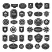 Fotografie Vintage style retro emblem label collection. Vector design elements.