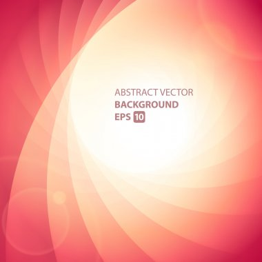 Colorful smooth twist light lines vector background