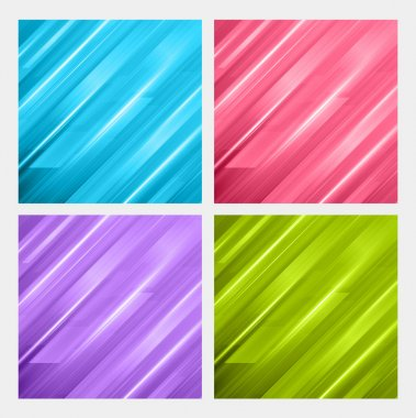 Abstract digital vector backgrounds set