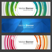 Abstrakte trendy vektor Banner oder Header set Eps 10