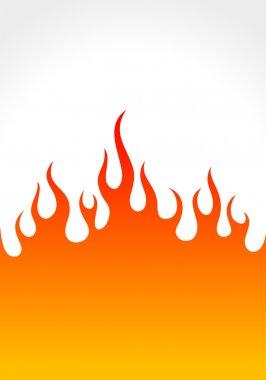 Flame on white background - vector illustration