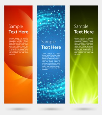 Abstract trendy vector banner vertical set eps 10
