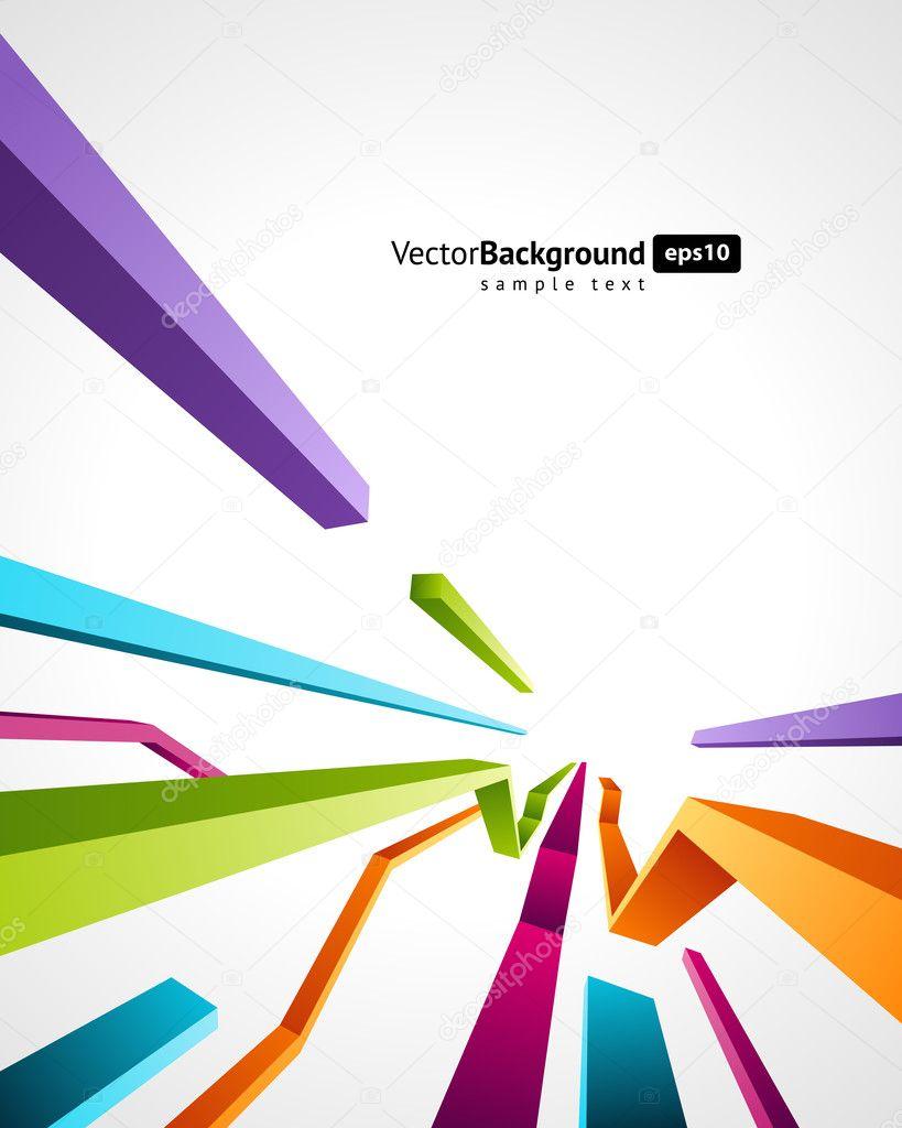 Absztrakt retro 3d technológia vonalak vector háttér. EPS-10 — Stock ... 9388eda433