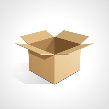 Open box stock vector
