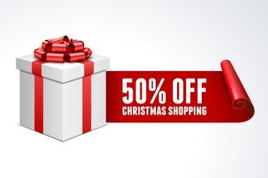 Christmas shoppping vector background clip art vector