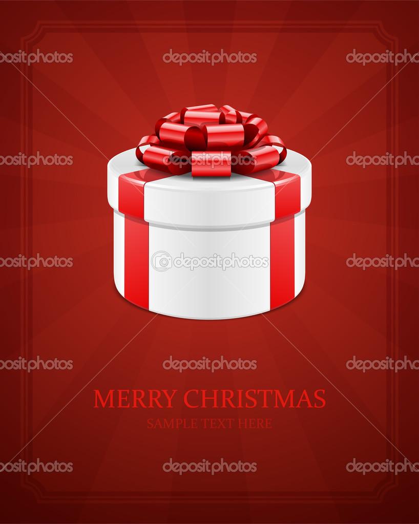 Geschenkbox mit Schleife und Licht — Stockvektor © VikaSuh #31925285