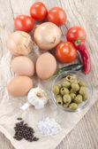 složky, aby se středomořské omlette
