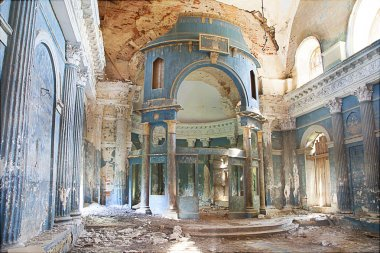 collapsed church