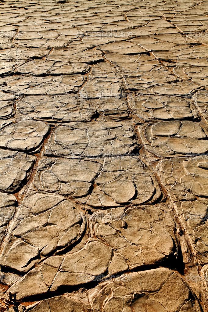 Dry clay pan in the Namib Desert