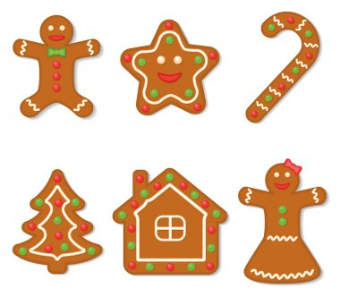 Vector collection of gingerbread figures