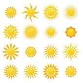 Sada slunce. vektor