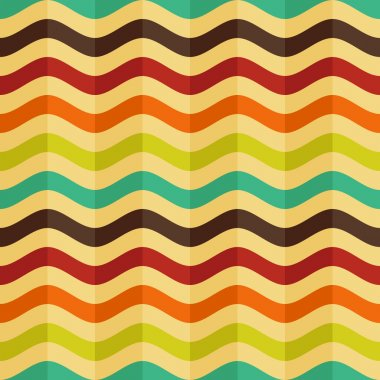Vector seamless background with stripes in retro style