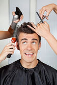 Fényképek Fodrászat haj ügyfél beállítása